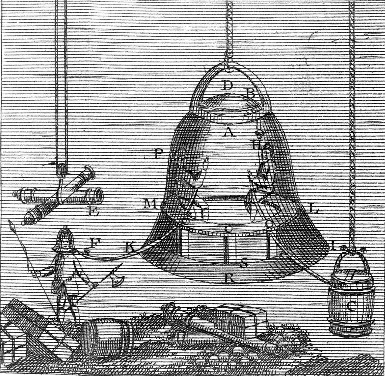 Gold diving bell. The strange and wonderful