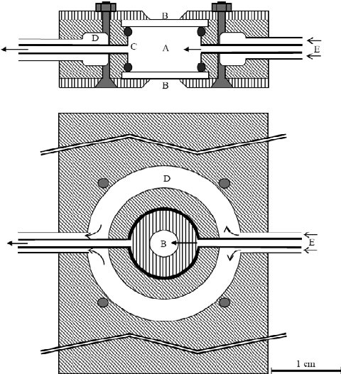 Brown diving chamber. Schematic view of hyperbaric