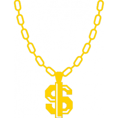 Gold dollar sign bling png. Thug life chain transparent