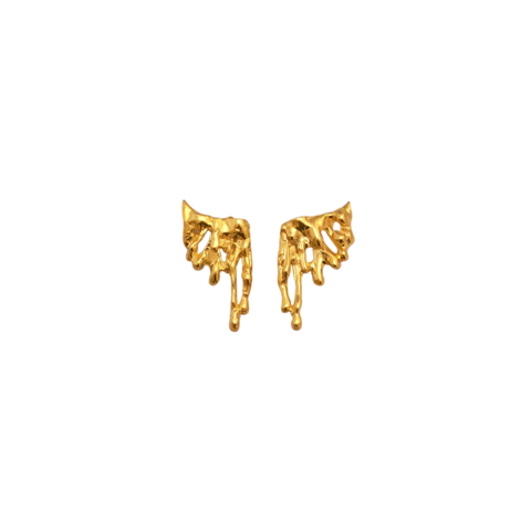 Gold drip png. Fortune frame drips angel