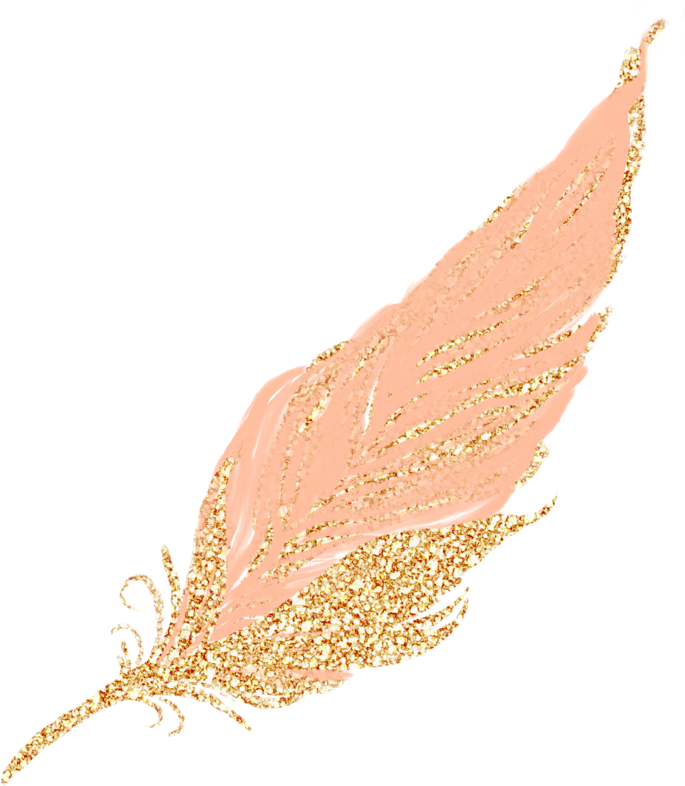 Rose gold glitter png. Download feathers feather pastel