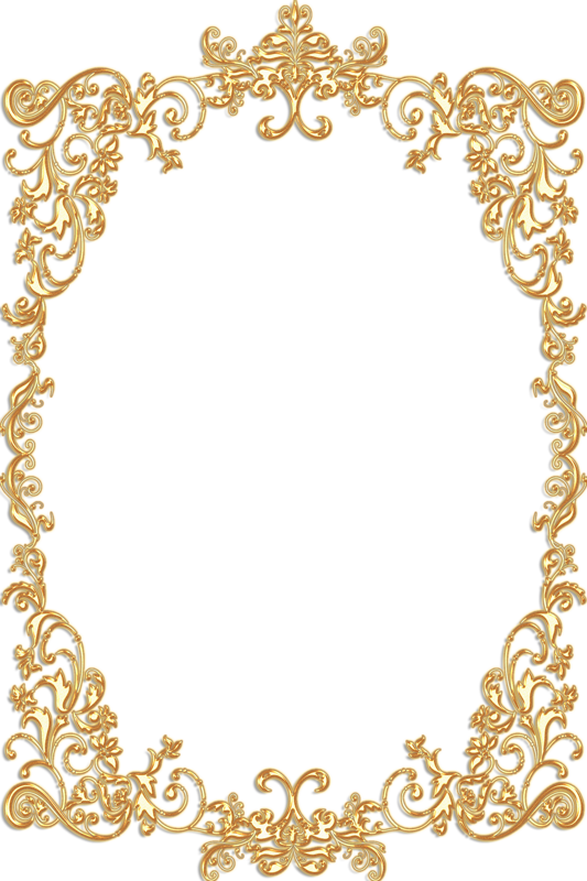 Gold filigree clip art png. Frame pinterest vintage and