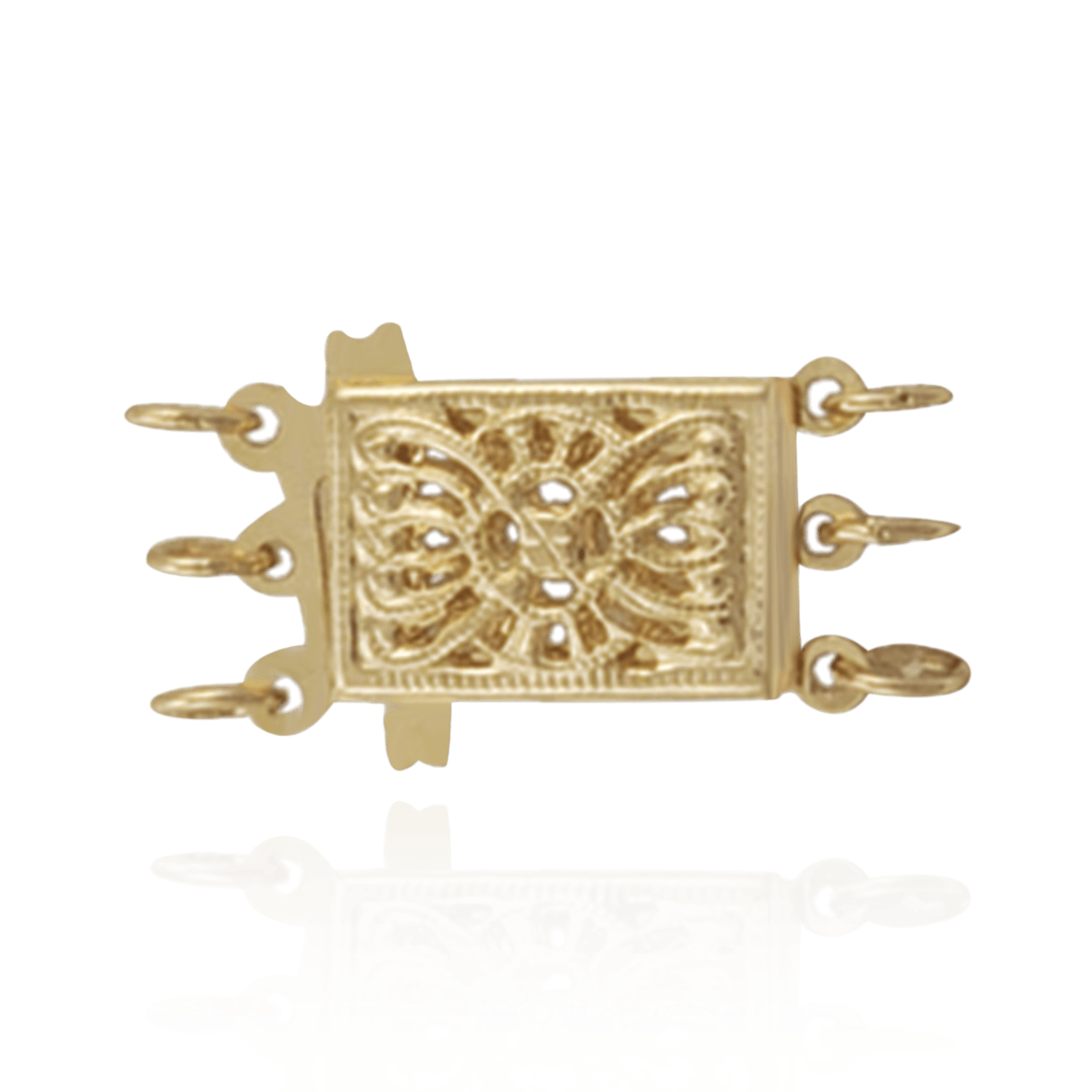 Gold filigree png. K rectangle pearl