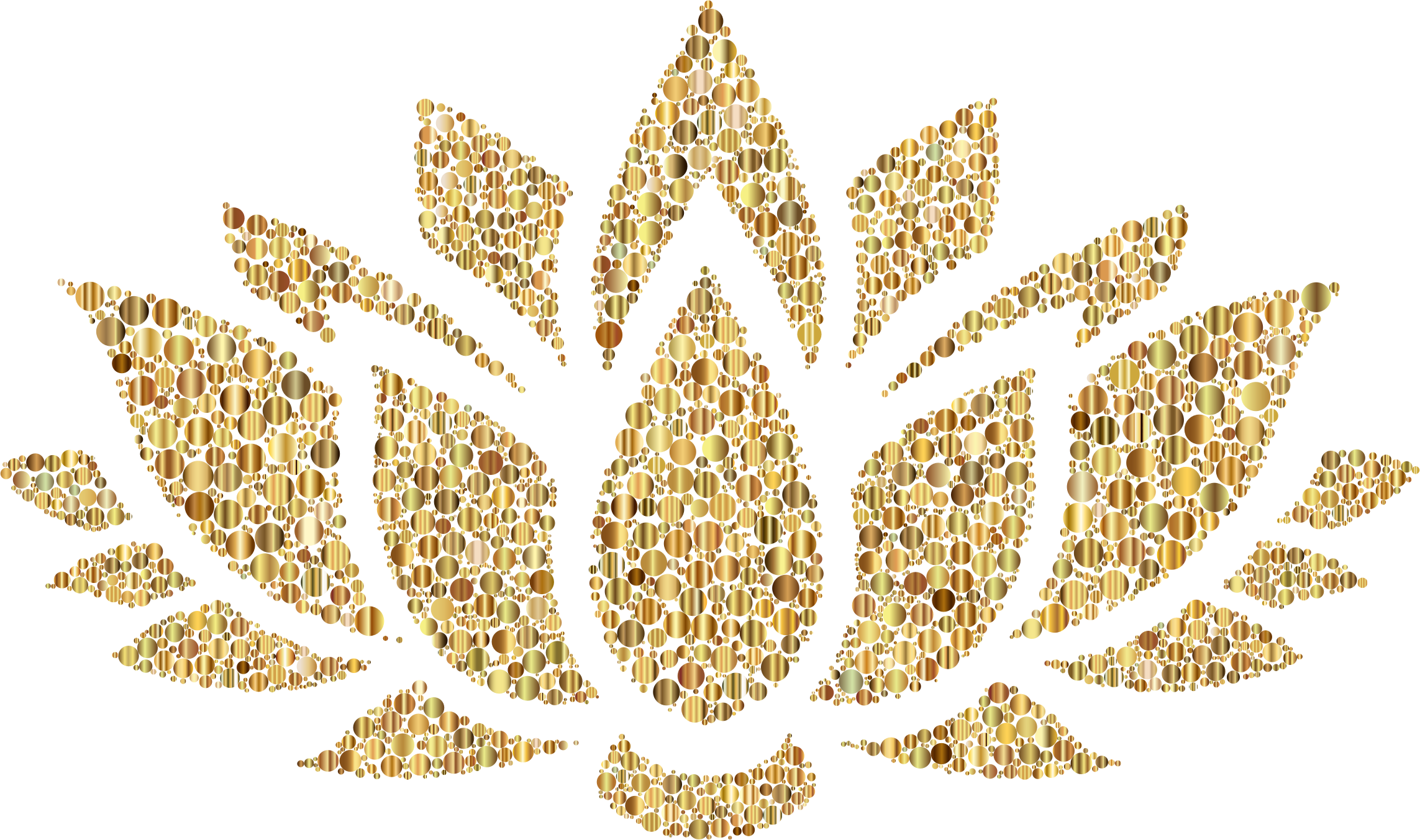 Gold filigree png. Prismatic lotus flower silhouette