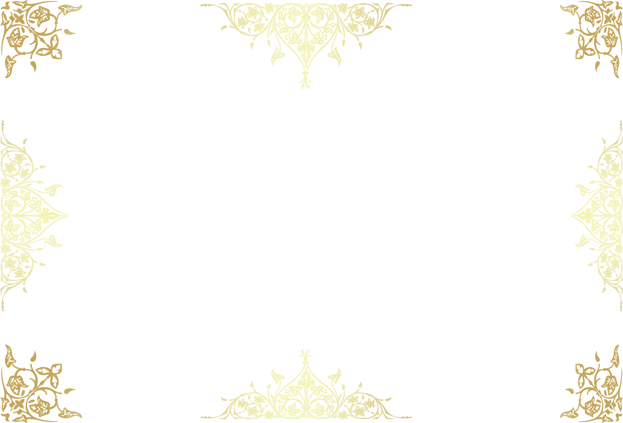 Clam vector golden. Floral deformation creative border