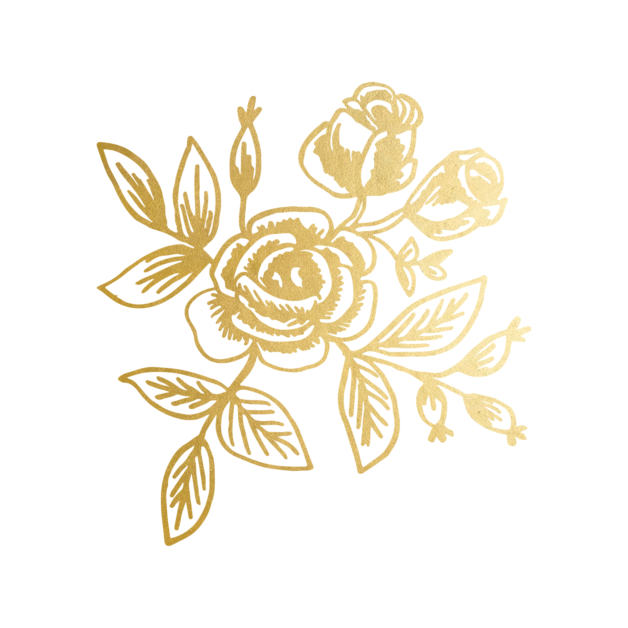 Gold floral png. By rifle paper co
