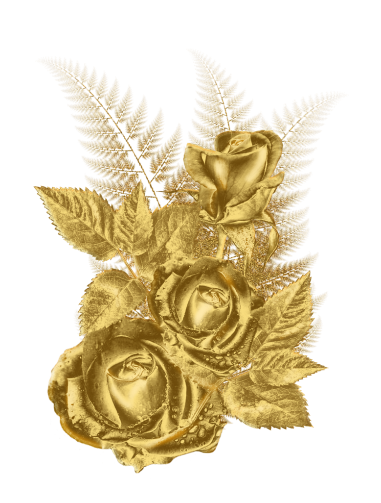 Gold flower png. Golden by roula on