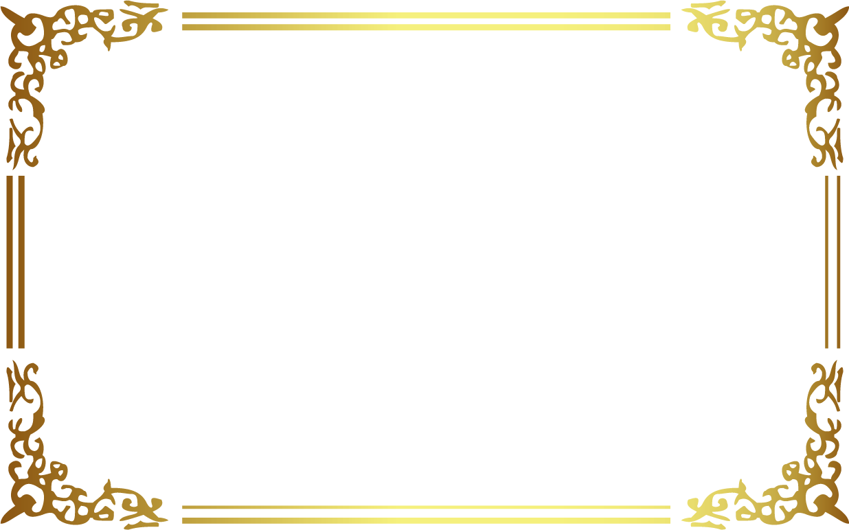 Gold frame border png. Icon ancient golden transprent