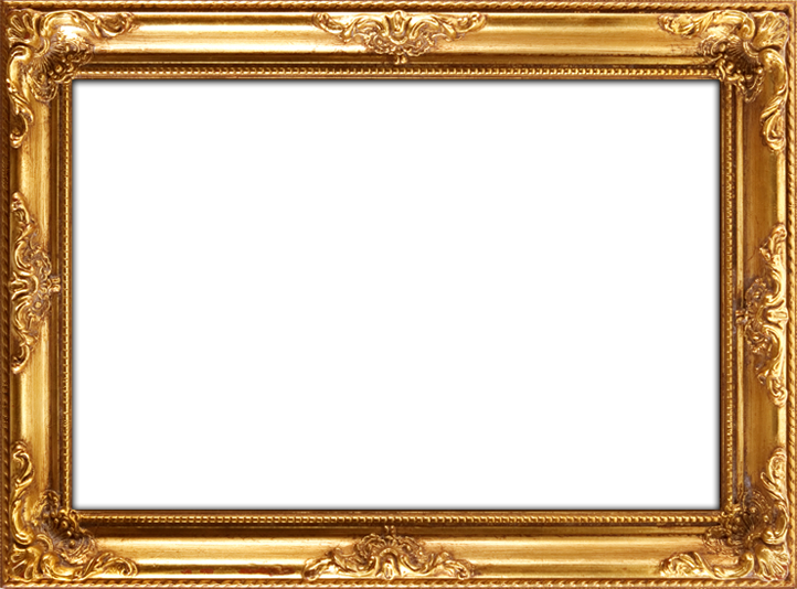Gold frame png. Black and wonderful square
