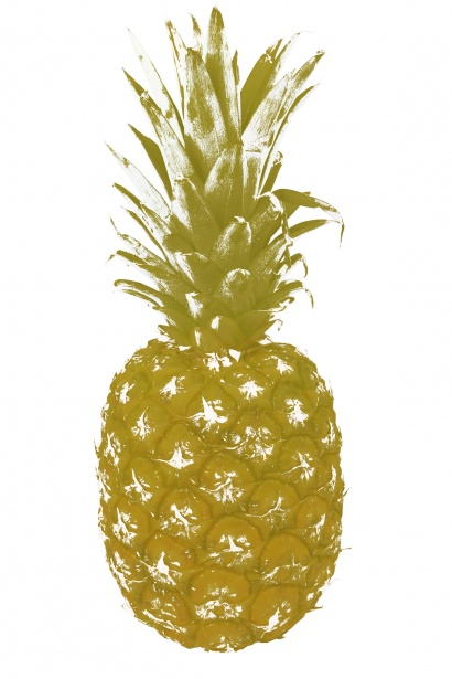 Gold fruit. Pineapple clipart free stock