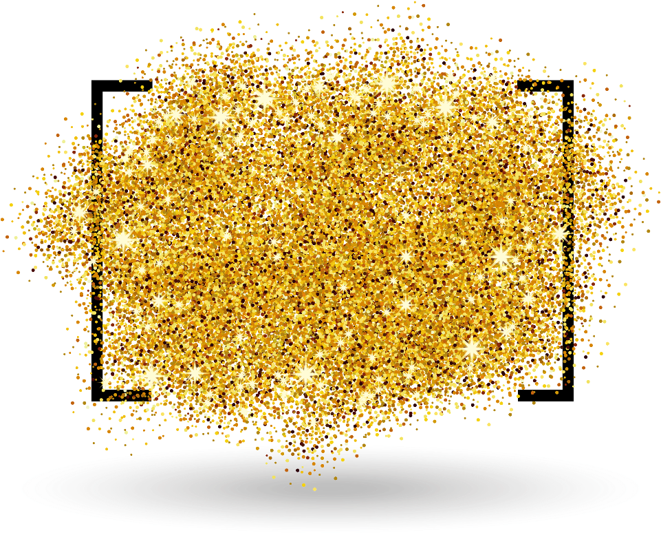 Gold glitter background png. Download hd frame template