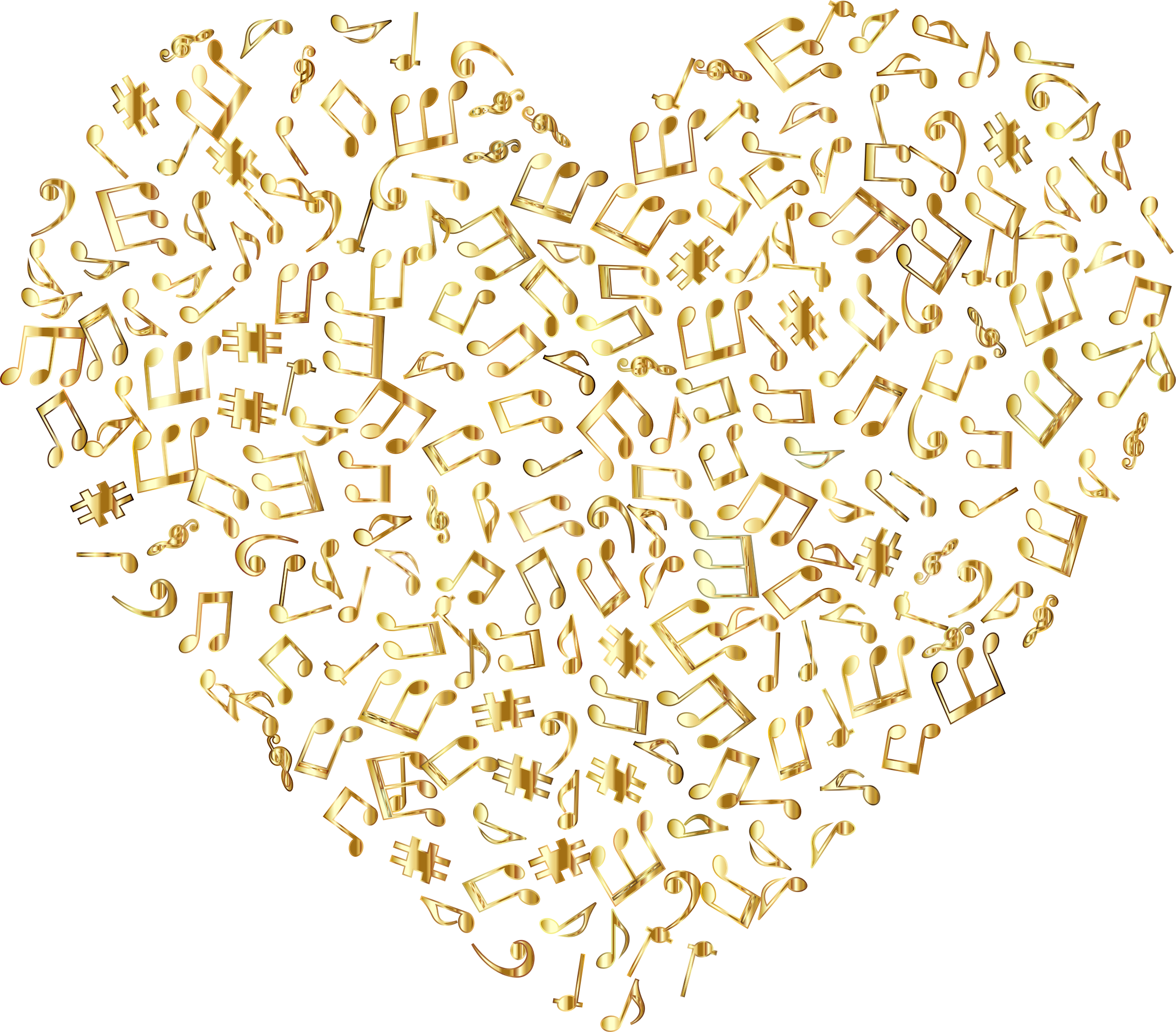 Gold glitter background png. Musical heart no icons