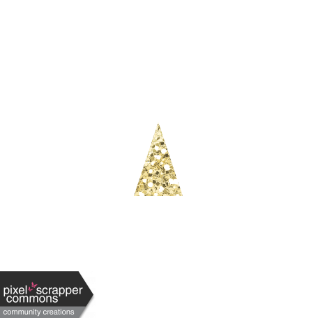 Gold glitter banner png. Amity bunting graphic by