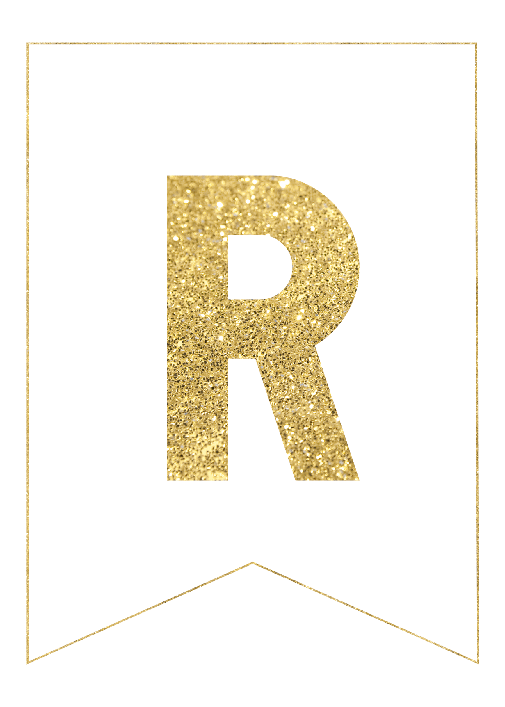 Free printable letters pinterest. Gold glitter banner png picture black and white download