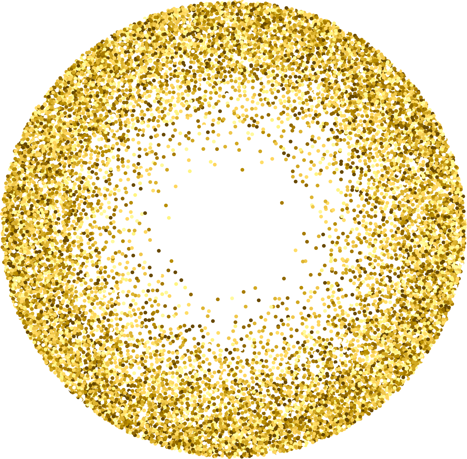 Vector glitter round. Gold stock photography circle