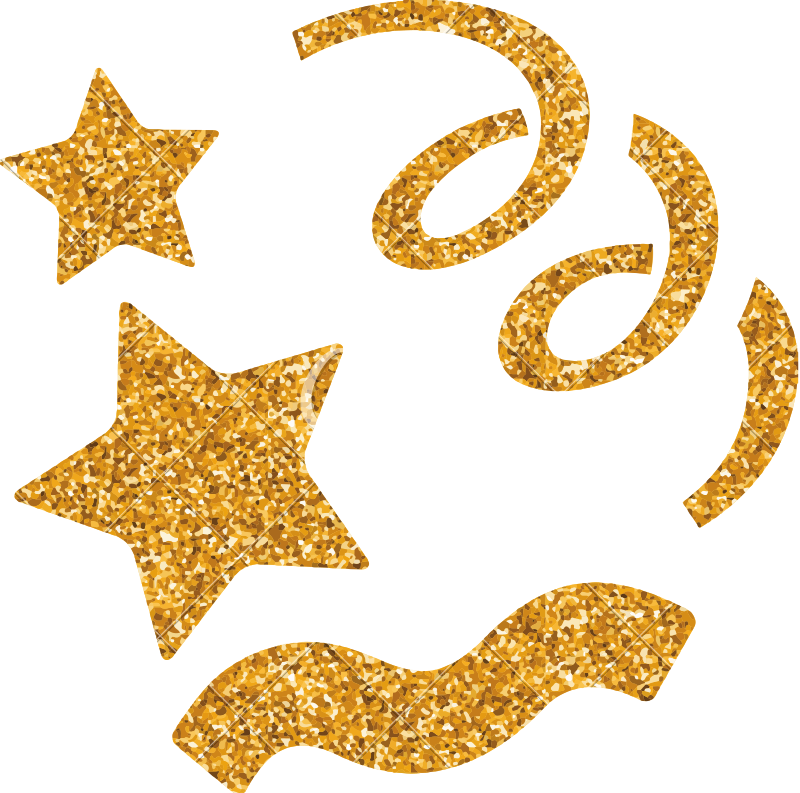 Gold glitter confetti png. Icons by canva