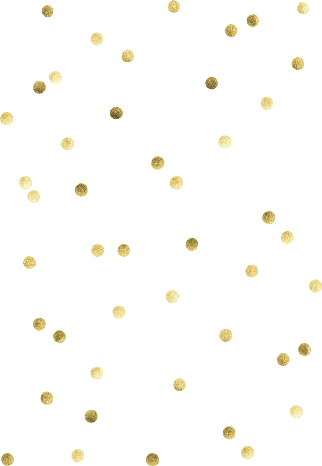 Vector glitter gold polka dot. Fre confetti sticker by