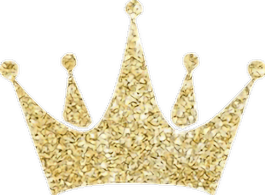 Gold glitter crown png. Freetoedit