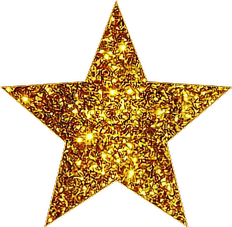 Gold glitter star png. Goldstar sticker by l