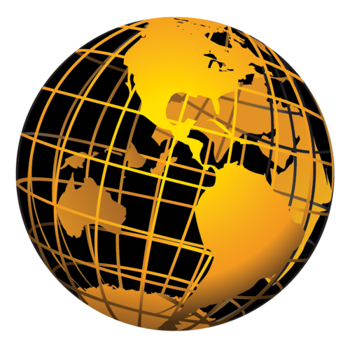 Gold globe png. Limo now on