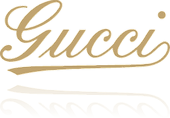 gold gucci logo png