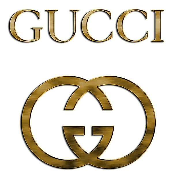 Gold gucci logo png. Shower curtain for sale