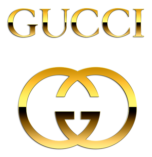 Gold gucci logo png. Sticker by ryan quotah