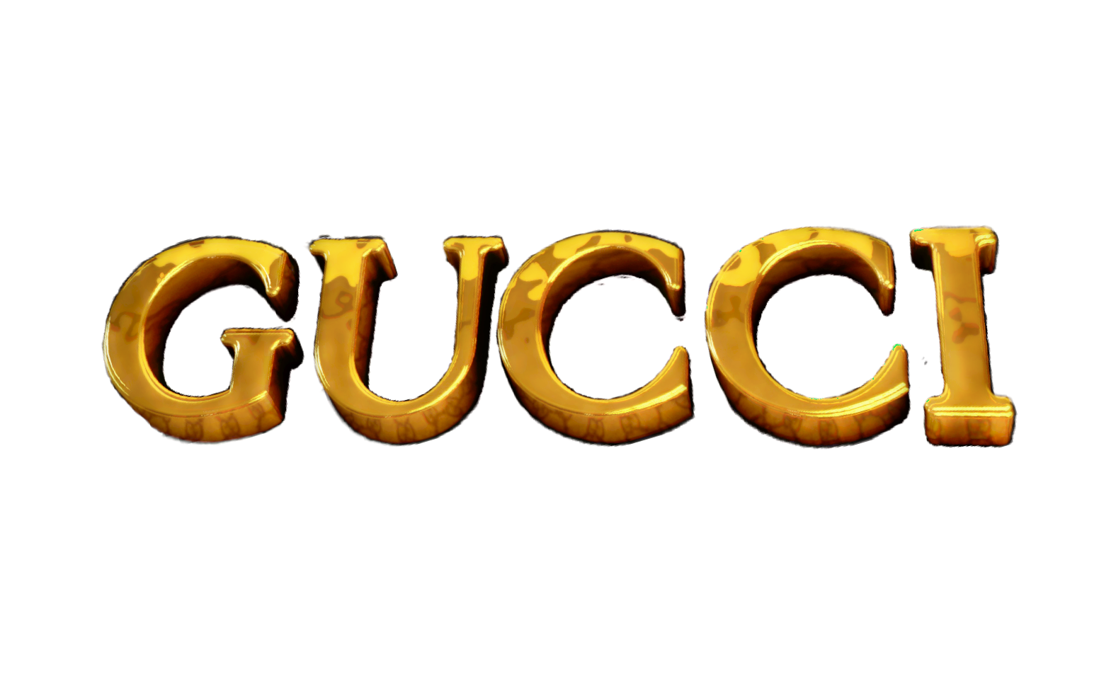 gucci gold logo png