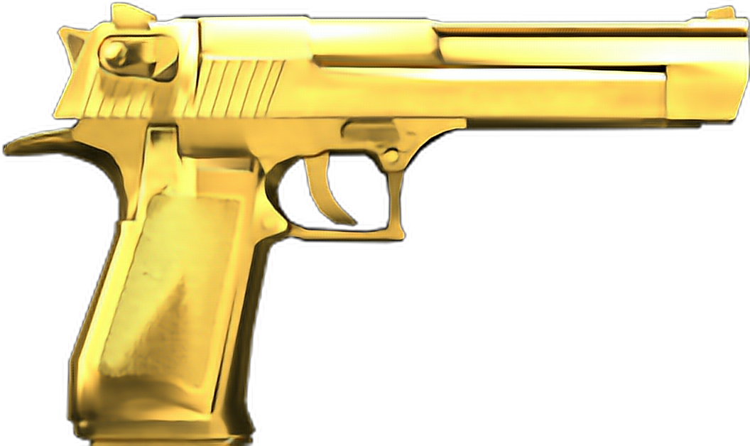 gold revolver png