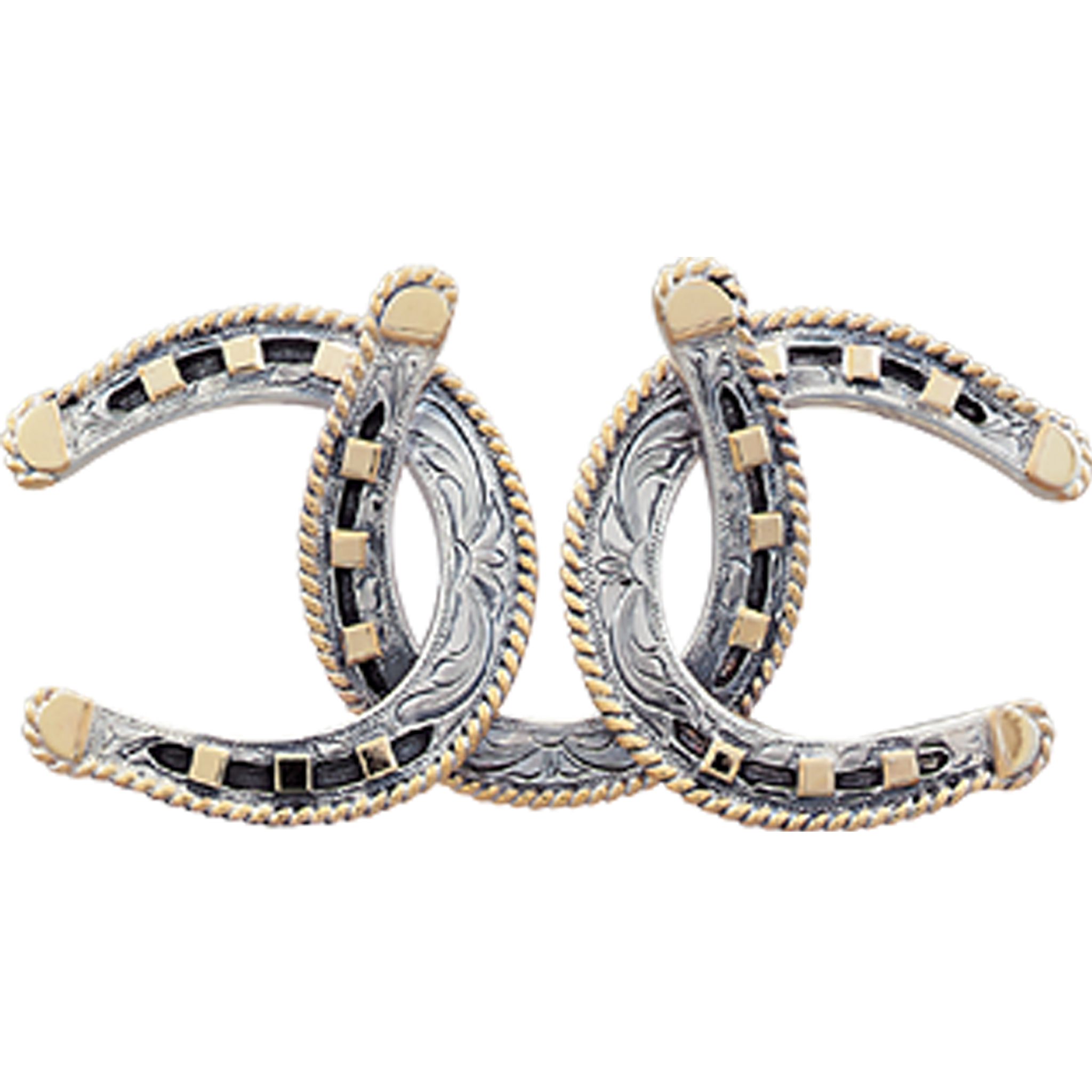Gold horse shoe png. The triple horseshoe sterling