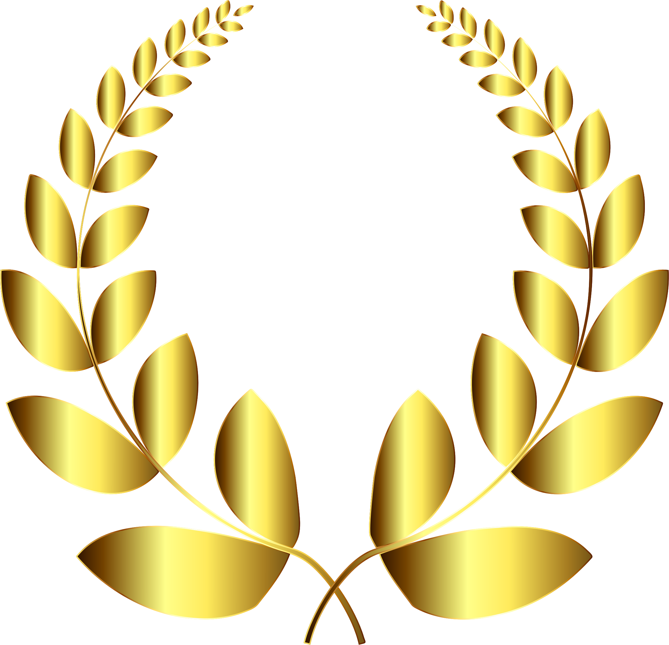 Gold laurel png. Wreath no background icons