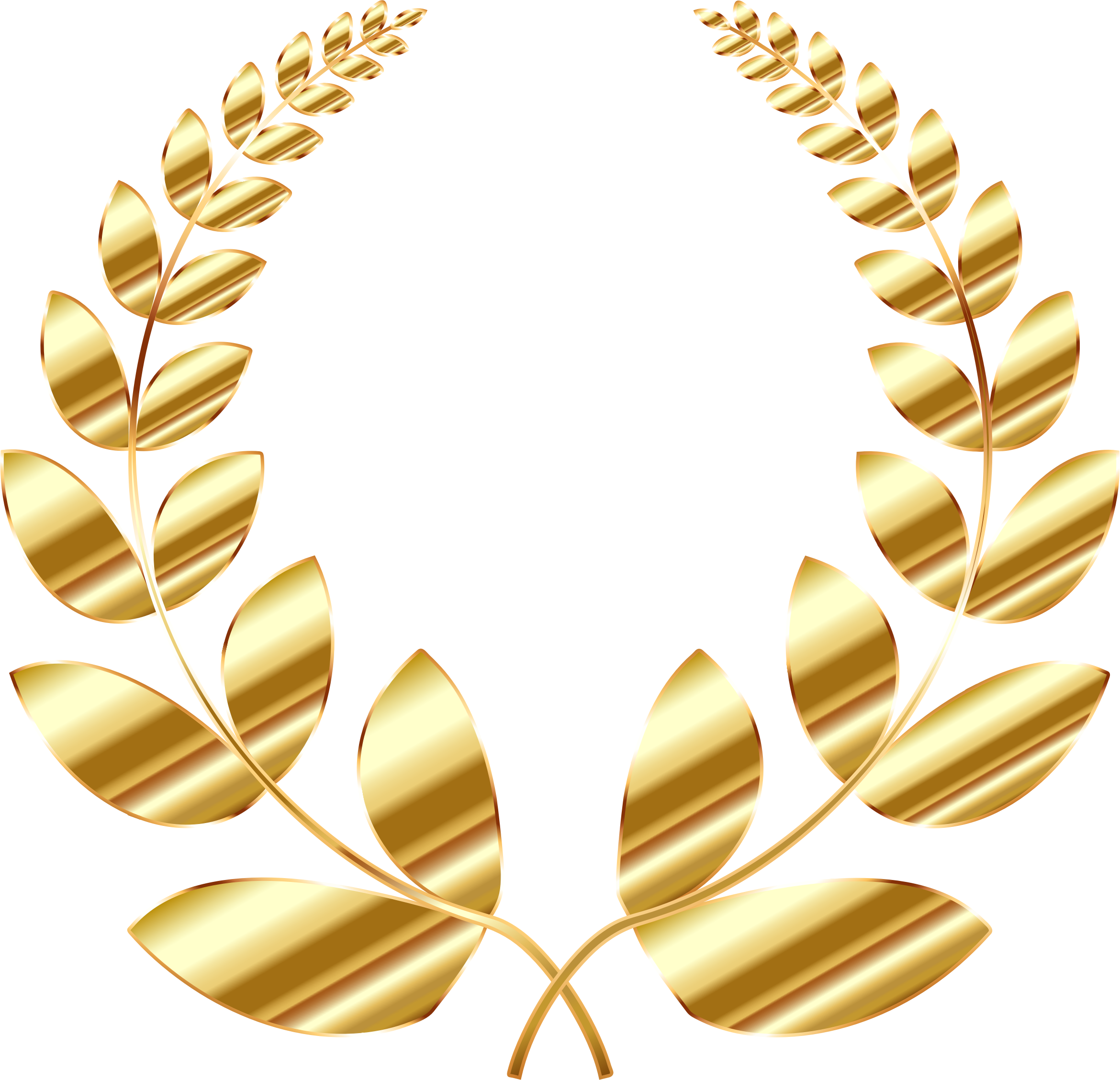 Gold laurel wreath png. Golden icons free and