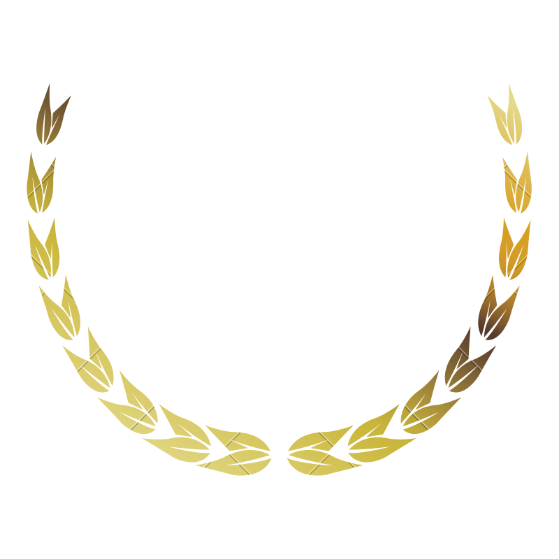 Laurel wreath gold png. Victory decoration leaves icons
