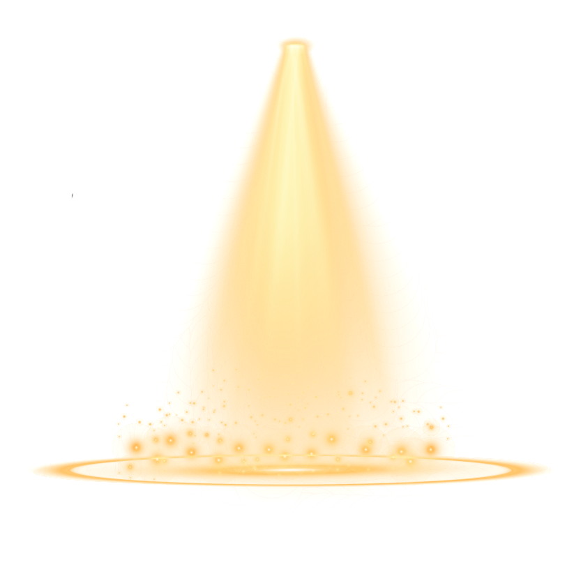 Stage transparent gold. Lighting png images all