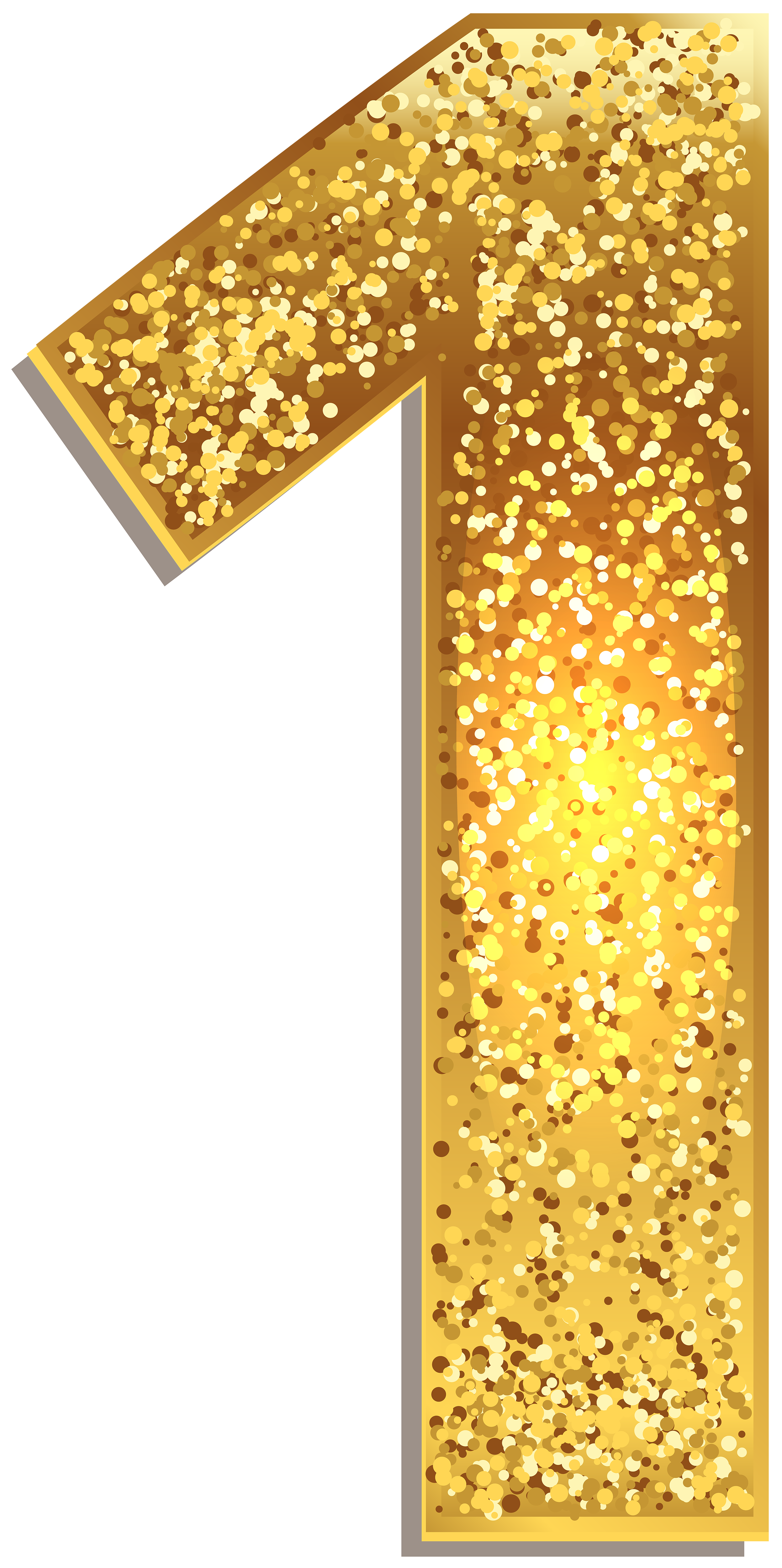 Gold light png. Number one shining clip