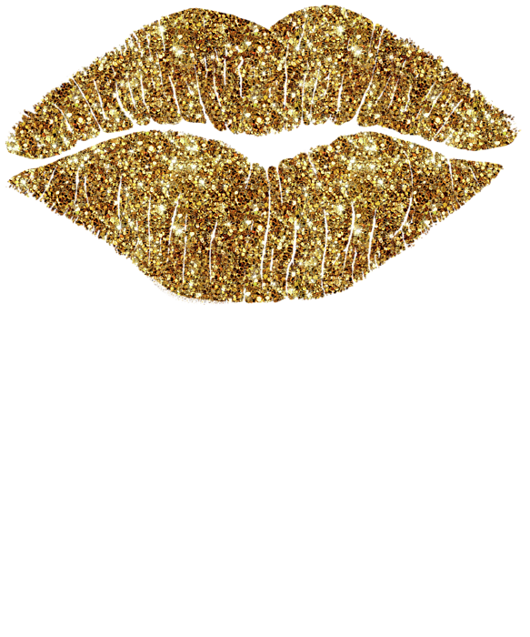 Gold lips png. Karat kiss onesie