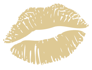 Gold lips png. Kissy clipart silhouette no