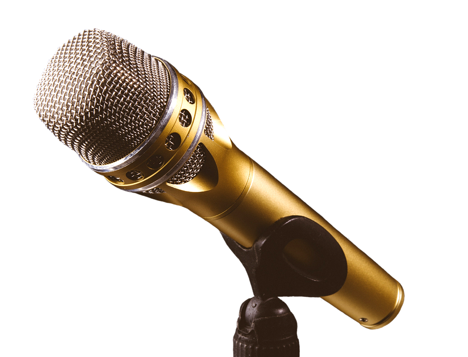 Gold mic png. Microphone images in collection