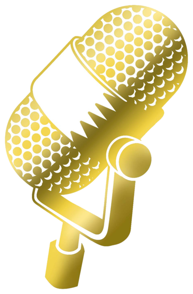Gold mic png. Psd official psds