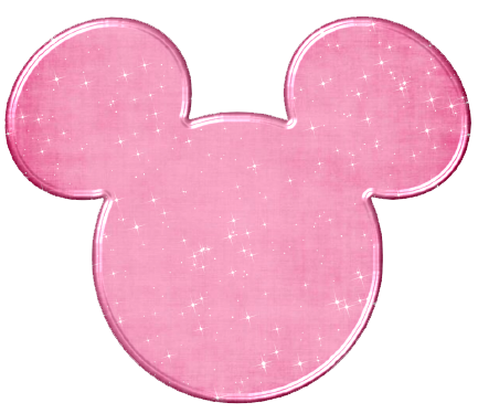 Silueta de mickey mouse png. Icons clipart pink glitter
