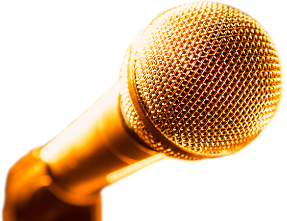 Gold microphone png. Cleveland improv the premier