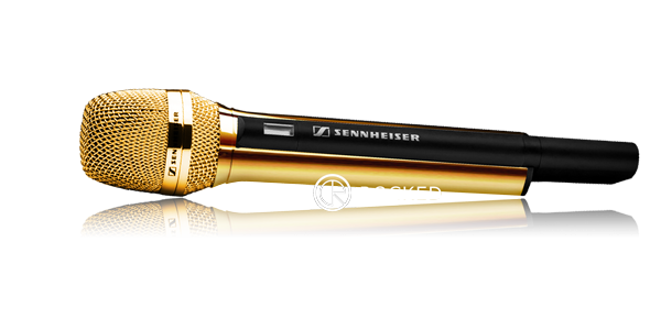 Golden microphone png. Customised by crystal rocked