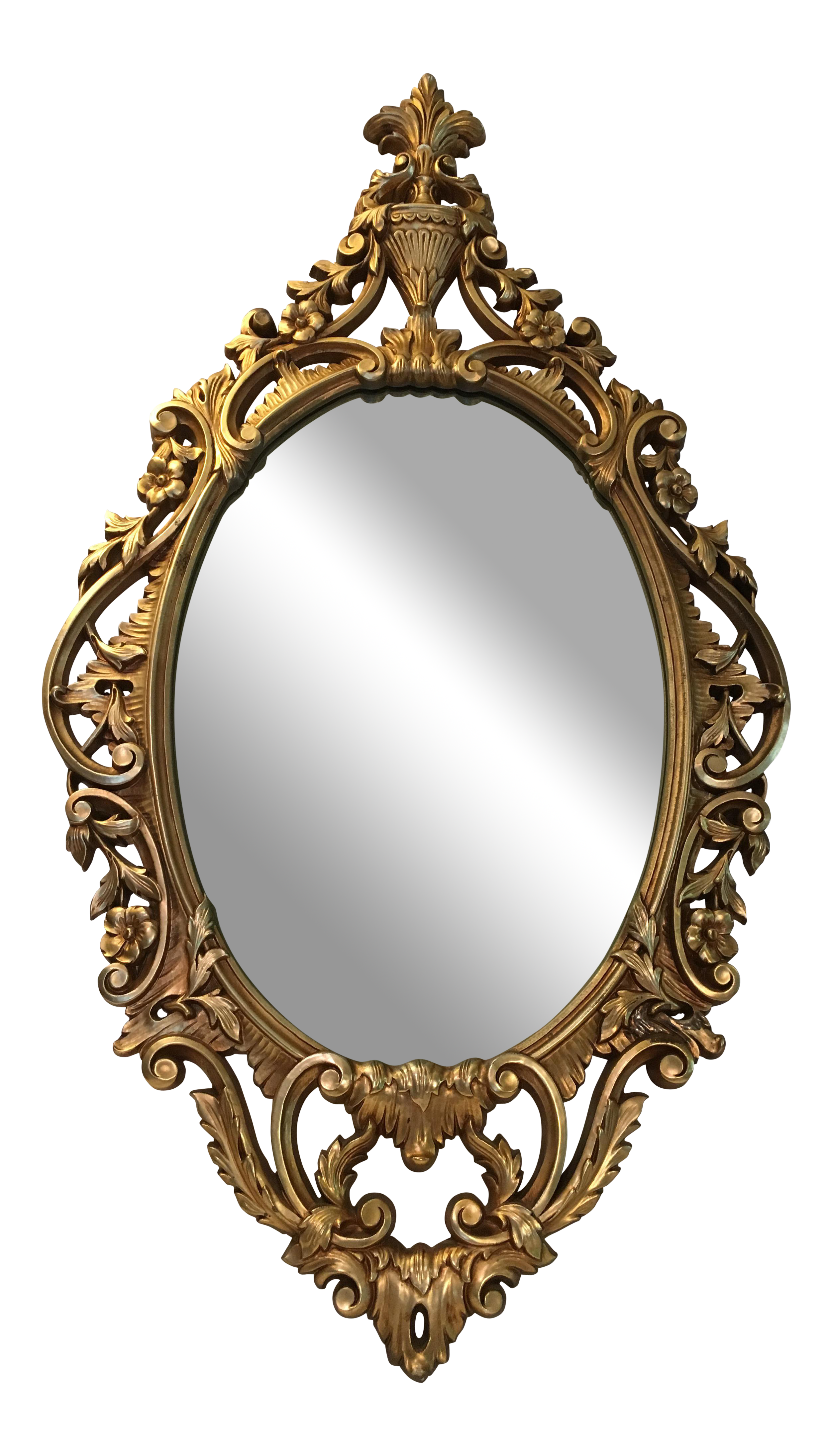 Vintage mirror png. Burwood products gold ornate