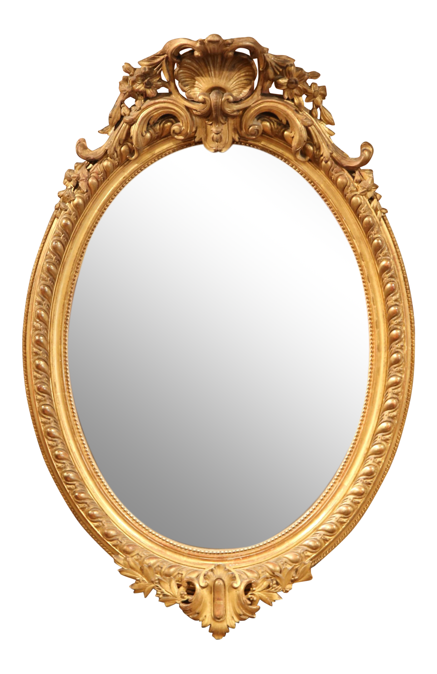 Gold mirror png. Th century french