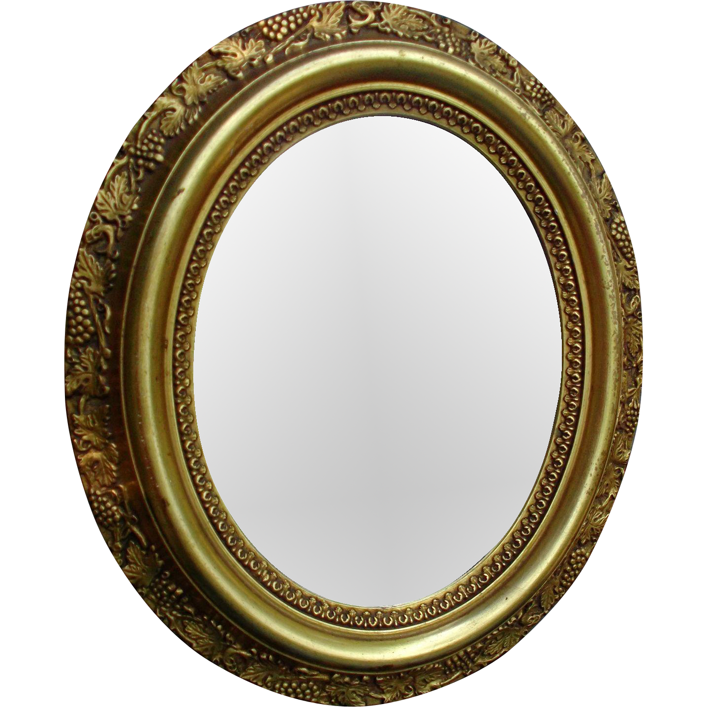 Gold mirror png. Old wood paint ormolu