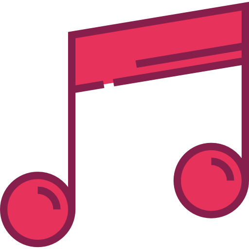 Red music note png. Musical notes slim icons