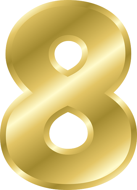 Gold numbers png. Number transparent stickpng