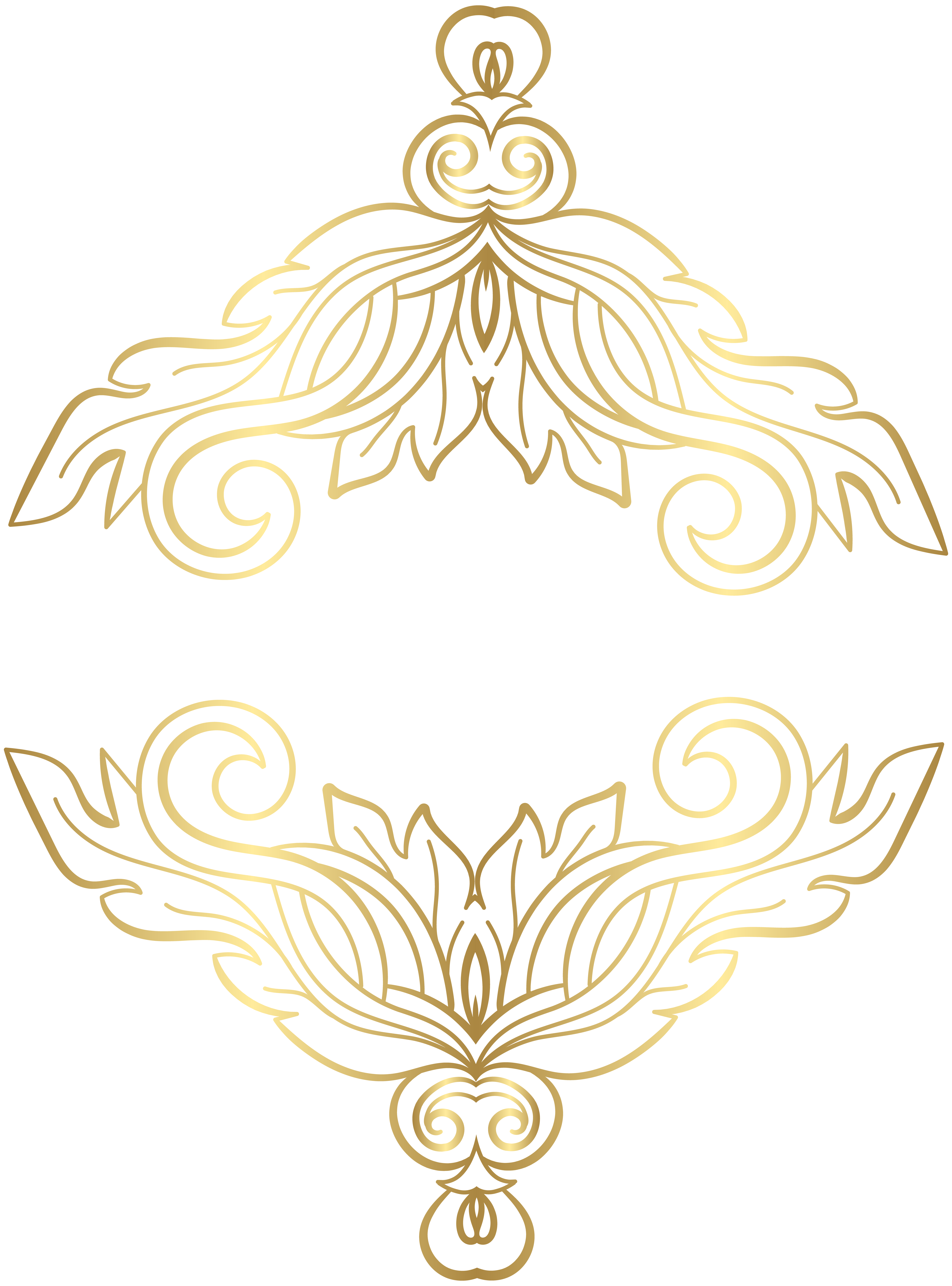 Gold ornaments png. Clip art image gallery