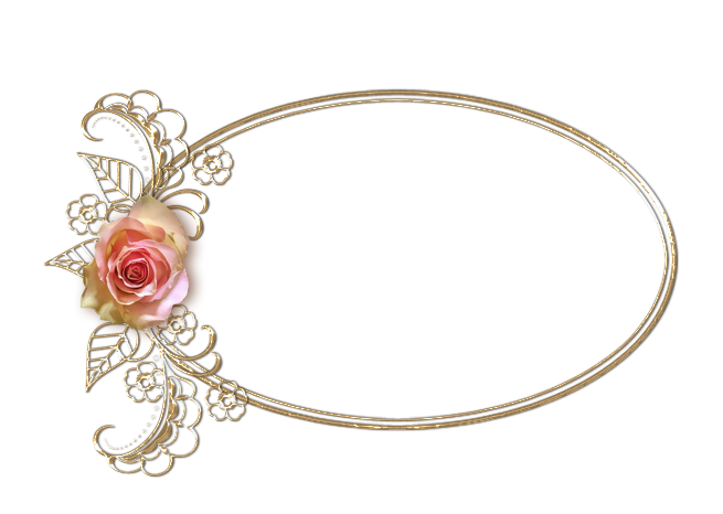 Gold oval frame png. Rose by alesscop on