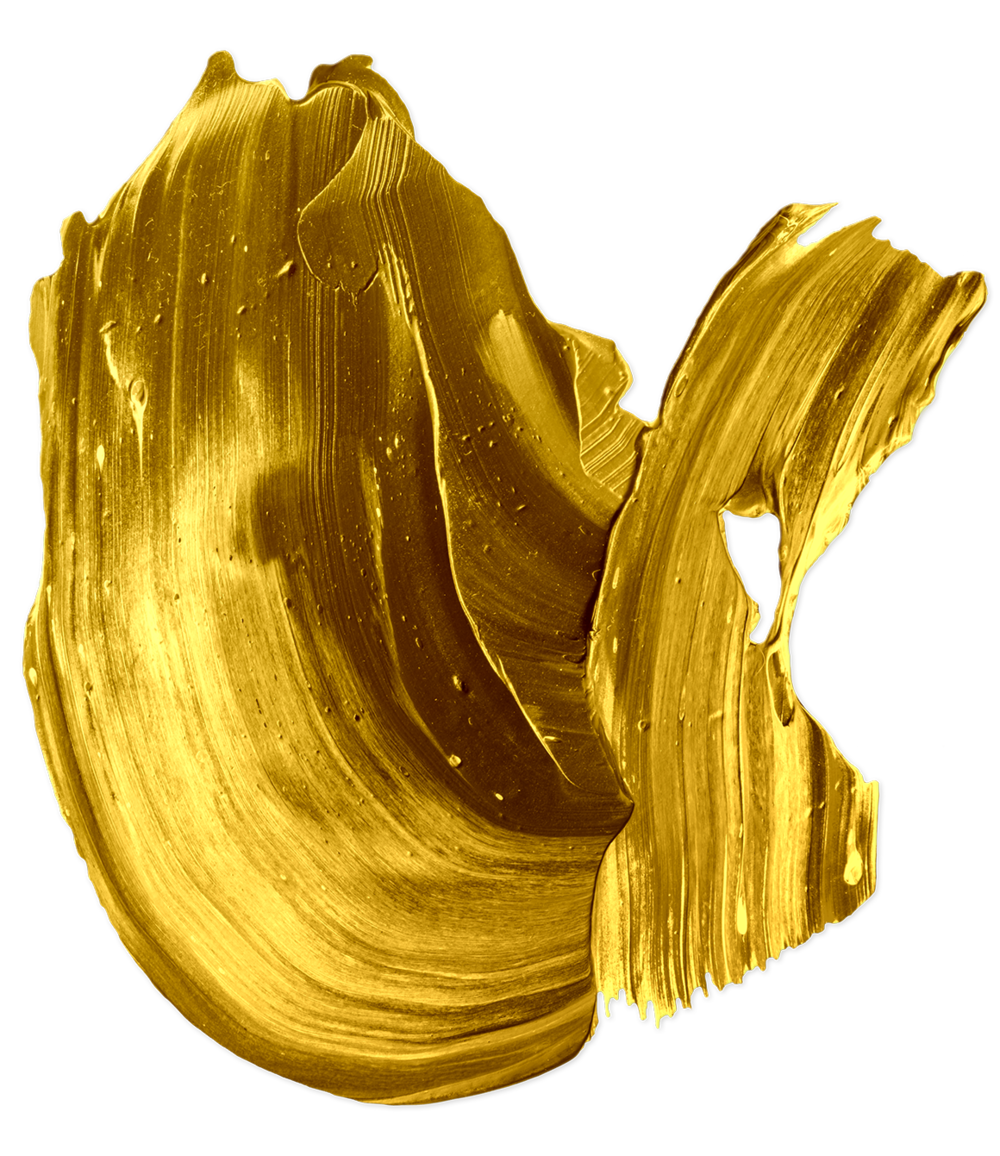 Gold paint png. Food coloring brush stroke